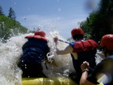 rafting the Kennebec