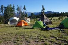our tent village in Estes