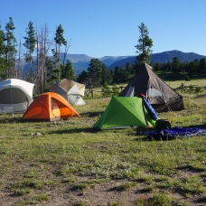 our tent village in Estes