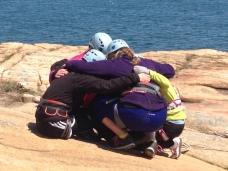 praying before a climb