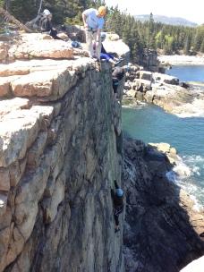 climbing at Otter Cliffs