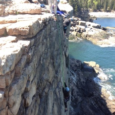 climbing at Otter Cliffs